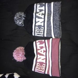 Two VS Pink Beanies